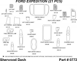 1999 Ford Expedition Wood Dash Kits   Sherwood Innovations 0772 CF   Sherwood Innovations Dash Kits