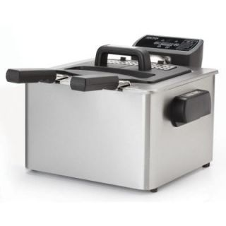 AROMA 4.0 Qt. Digital Dual Basket Deep Fryer in Stainless Steel ADF 232
