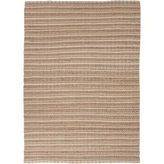 Handmade Naturals Solid pattern Brown Accent Rug (26 x 4