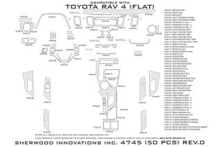 2013 Toyota RAV4 Wood Dash Kits   Sherwood Innovations 4745 BI   Sherwood Innovations Dash Kits