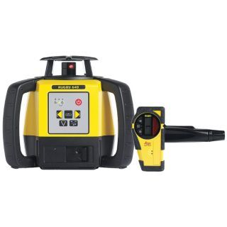 LEICA RUGBY Electronic Self Leveling Rotary Laser Level, Horizontal and Vertical, Interior and Exterior   Rotary and Straight Line Laser Levels   30HH83|RUGBY 640