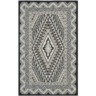 Safavieh Indoor/ Outdoor Four Seasons Ivory/ Grey Rug (36 x 56