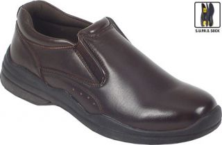Mens Deer Stags Goal   Dark Brown Leather