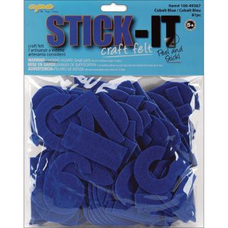 Stick It Felt Cobalt Numbers and Letters (Case of 80)   13390735