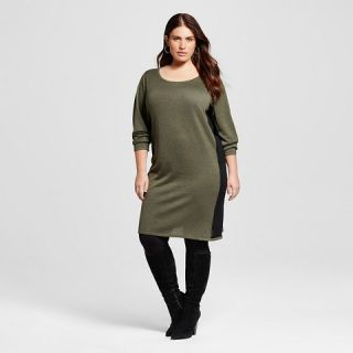 Womens Plus Size Colorblock Sweater Dress   U Knit