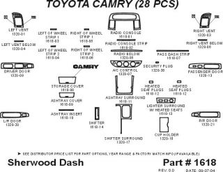 2005, 2006 Toyota Camry Wood Dash Kits   Sherwood Innovations 1618 N50   Sherwood Innovations Dash Kits