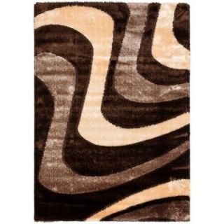 Safavieh Miami Shag Brown/Beige 8 ft. x 10 ft. Area Rug SG361 2513 8