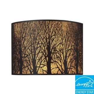 Titan Lighting Woodland Sunrise 2 Light Aged Bronze Sconce TN 5026