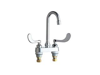 Chicago Faucets 895 317ABCP Deck Mounted Gooseneck Faucet, Chrome