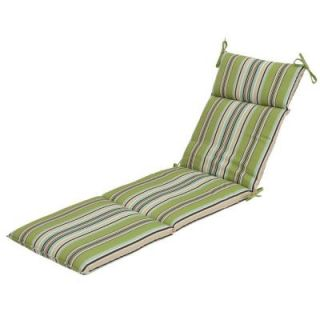 Hampton Bay Connelly Stripe Outdoor Chaise Cushion 7407 01237900