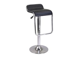 Winsome Wood 93114 Backless Oslo Air Lift Bar Stool, Black