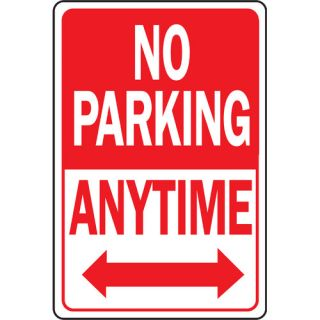 12 x 18 Aluminum No Parking Anytime Sign
