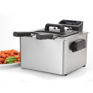Aroma SmartFry XL 4 Quart Digital Deep Fryer, Stainless Steel