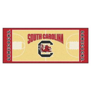 FANMATS NCAA University of South Carolina Cream 2 ft. 6 in. x 6 ft. Basketball Runner 18509