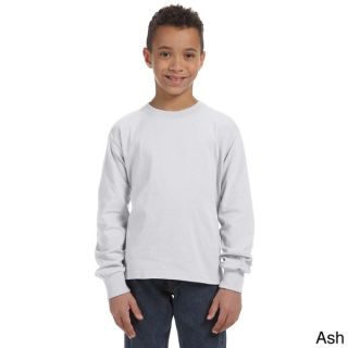 Fruit of the Loom Youth Heavy Cotton HD Long Sleeve T shirt   16301283