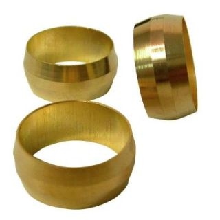 Sioux Chief 1/2 in. Brass Compression Sleeve (3 Pack) 907 011603