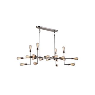 Elegant Lighting Ophelia Collection 1139 Pendant Lamp with Polished