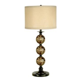 Dale Tiffany PG10353 Mosaic 3 Ball Art Glass Table Lamp