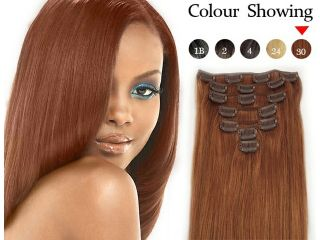 "ZNUONLINE Real Human Hair Wigs Extensions 7pcs Hairpieces Straight 18"" Clip In On Fashion Multic colors for Women Ladies Girls Cosplay Party #240086_12"