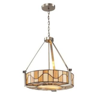 Radionic Hi Tech Thepresea 3 Light 20 in. Satin Nickel Hand Rolled Art Glass Pendant DT_PEN_TH12420_RHT