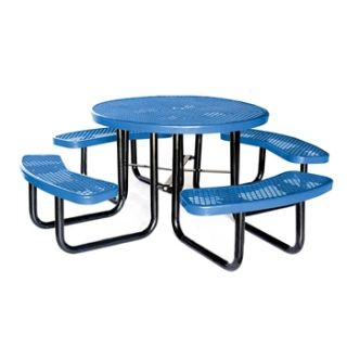 N/A Thermoplastic Round Expanded metal Picnic Table