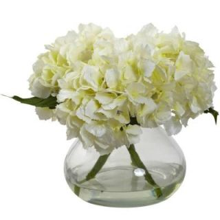 Nearly Natural Blooming Hydrangea with Vase 1356 CR