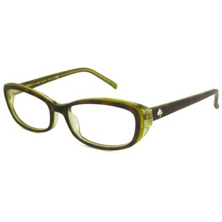 Kate Spade Readers Womens Magda Rectangular Tortoise/Green Reading