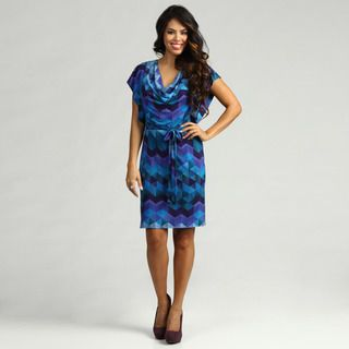 Jessica Howard Womens Purple/ Blue Printed Dress