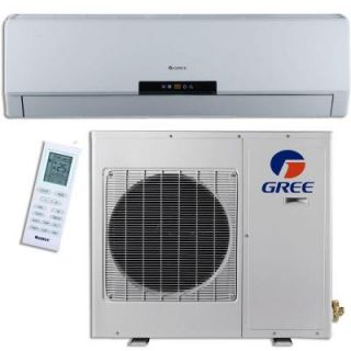 GREE Premium Efficiency 24,000 BTU (2 Ton) Ductless (Duct Free) Mini Split Air Conditioner   Inverter, Heat, Remote 208 230V NEO24HP230V1A 1