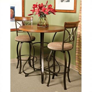 Powell Furniture Hamilton Pub Table in Matte Pewter and Bronze   697 404