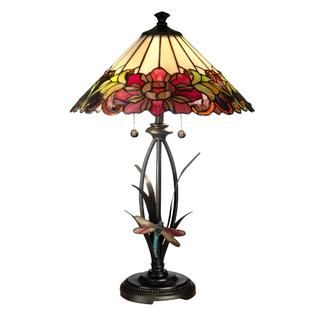 Dale Tiffany Floral With Dragonfly Tiffany Table Lamp   Home   Home