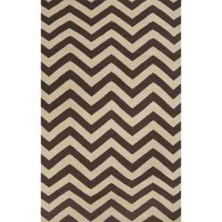 Chevron Flat Weave Area Rug   Brown