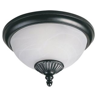 Sea Gull 2 Light Outdoor Flush Mount   Black