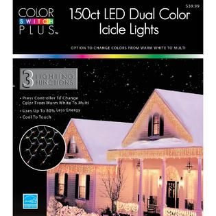 Color Switch Plus 150 Dual Color LED 3 Function Icicle Lights