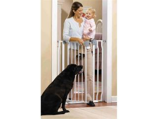 GMI 13 420 10 GuardMaster IV 420 Extra Tall Steel Gate with Alarm   Top Of Stairs Rated