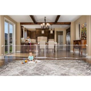 Regalo 192 Inch Super Wide Configurable Baby Gate and 8 Panel Play Yard, White