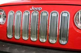2007 2016 Jeep Wrangler Bar Billet Grilles   Rugged Ridge 11401.20   Rugged Ridge Grille Inserts