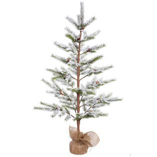 Vickerman Unlit 5 x 40 Flocked Desert Pine Artificial Christmas Tree