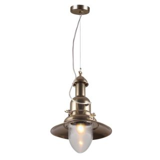 Elegant Lighting Industrial Collection Pendant lamp with Antique Brass
