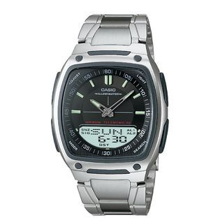 Casio Mens Calendar Day/Date Eco Freindly Watch w/Square Black Dial