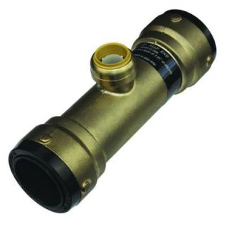 SharkBite 1 1/2 in. x 1 1/2 in. x 1 in. Brass Push to Connect Reducer Tee SB03414128