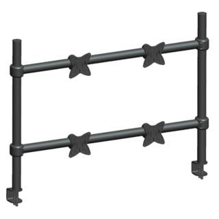 MONOPRICE Black Quad Monitor Arm, Clamp Mount, 33 lb. Each Weight Capacity   Computer Monitor Arms   45H804|5559