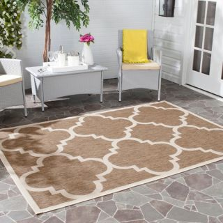 Safavieh Indoor/ Outdoor Courtyard Brown Rug (8 x 11)