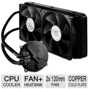 Cooler Master Seidon 240M Liquid CPU Cooler   2x 120mm PWM Fan, Water Pump, 240mm Aluminum Radiator, Copper Cold Plate,    RL S24M 24PK R1