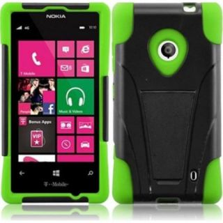 Insten For Nokia Lumia 521 T Stand Case Green