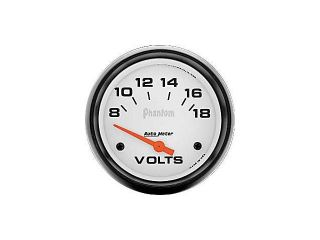 Auto Meter Phantom Electric Voltmeter Gauge