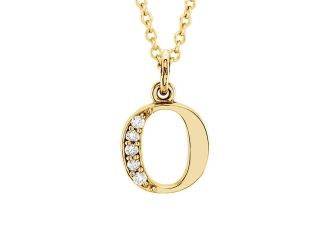 The Kelly 14K Gold Diamond Lower Case Letter 'o' Necklace, 16 Inch
