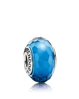 PANDORA Charm   Murano Glass Aqua Fascinating, Moments Collection