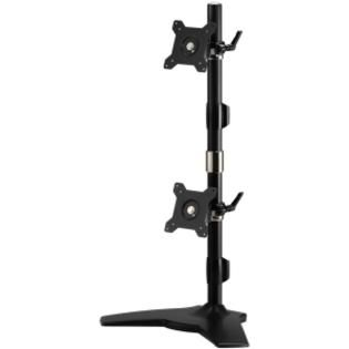 AMER NETWORKS Amer Mounts Stand Based Vertical Dual Monitor Mount for