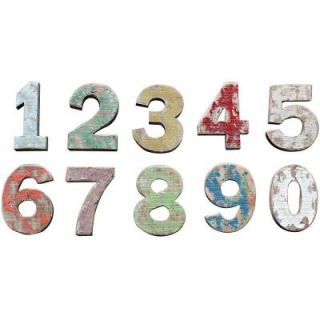 Home Decorators Collection 8 in. H x 10 in. W Colorful Wooden Numbers (Set of 10) 8271200730